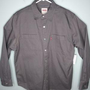 Levis Denim Long Sleeve Button Front Shirt
